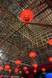 Lanterna rossa cinese Fotografie Stock