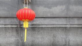 Lanterna rossa cinese per una celebrazione del nuovo anno archivi video