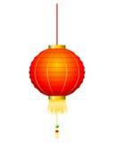 Lanterna rossa cinese su bianco Royalty Illustrazione gratis