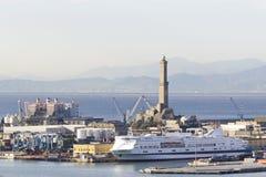 Lanterna: simbolo della città di Genova Immagine Stock Libera da Diritti