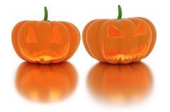 Lanterna spaventosa della zucca di Halloween con una candela dentro immagini stock