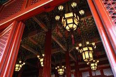Lanterna su Tiananmen Gatetower fotografia stock