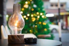 Lanterna sulla tavola Fotografia Stock