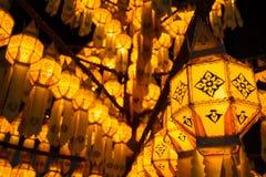 Lanterna tailandesa bonita do lanna Fotografia de Stock
