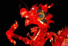 Lanterna tradizionale cinese del drago Fotografia Stock