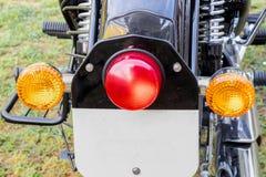 Lanterna traseira e indicadores traseiros da bicicleta do preto de Mordern fotos de stock