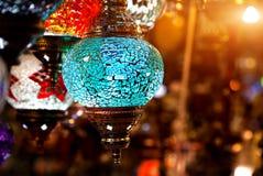 Lanterna variopinta turca Immagine Stock Libera da Diritti