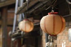 Lanterna velha chinesa do vermelho do sytle Imagem de Stock