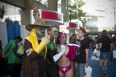 Lanterna verde alla convenzione di Baltimora Comicon Fotografia Stock Libera da Diritti