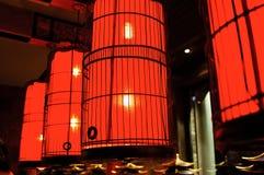 Lanterna vermelha Fotografia de Stock