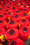 Lanterna vermelha Imagem de Stock Royalty Free