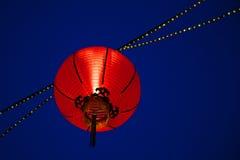 Lanterna vermelha Fotografia de Stock Royalty Free