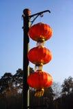 Lanterna vermelha foto de stock