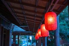 Lanterna vermelha Imagens de Stock Royalty Free