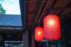 Lanterna vermelha Foto de Stock Royalty Free