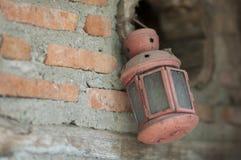 A lanterna vermelha Fotografia de Stock