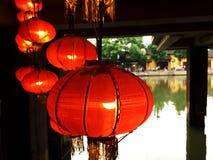 Lanterna vermelha Imagem de Stock