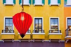 Lanterna vermelha a comemorar Imagem de Stock Royalty Free
