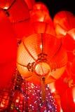 Lanterna vermelha de suspensão Fotografia de Stock