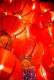 Lanterna vermelha de suspensão Fotos de Stock
