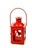 Lanterna vermelha do Natal com rena foto de stock royalty free