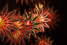 Lanternas bonitas da estrela Fotografia de Stock Royalty Free