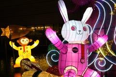 Lanternas bonitas dos desenhos animados foto de stock