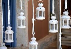 Lanternas brancas Fotografia de Stock Royalty Free