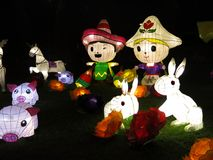 Lanternas chinesas bonitas Foto de Stock Royalty Free