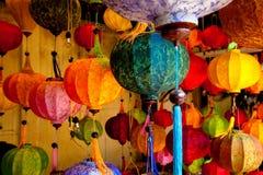 Lanternas chinesas coloridas Foto de Stock Royalty Free