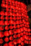 Lanternas chinesas do ano novo em chinatown Fotografia de Stock