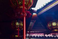 Lanternas chinesas do ano novo em chinatown em Jakarta imagem de stock