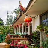 Lanternas chinesas, interior tradicional Imagem de Stock Royalty Free
