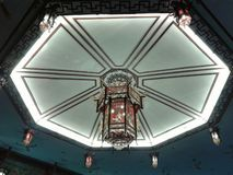 Lanternas chinesas no santuário fotografia de stock royalty free