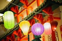 Lanternas chinesas ou japonesas Fotos de Stock Royalty Free
