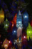 Lanternas coloridas Fotografia de Stock