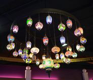 Lanternas coloridas dos países árabes Imagem de Stock Royalty Free