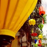 Lanternas coloridas em Hoi An fotografia de stock
