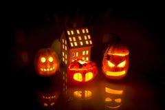 Lanternas de Dia das Bruxas Foto de Stock Royalty Free