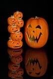 Lanternas de Halloween Jack O Imagem de Stock