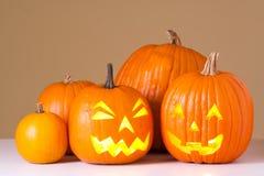 Lanternas de Halloween Jack O Fotos de Stock Royalty Free
