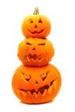 Lanternas de Halloween Jack O Foto de Stock Royalty Free