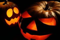 Lanternas de Jack-o de Halloween Imagens de Stock Royalty Free