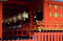 Lanternas de Kasuga Taisha Foto de Stock Royalty Free