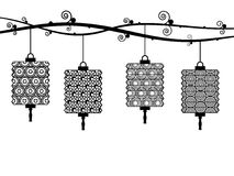 Lanternas de papel Foto de Stock Royalty Free