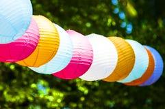 Lanternas de papel coloridas Fotos de Stock Royalty Free