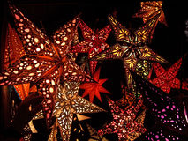 Lanternas de papel dadas forma estrela Fotos de Stock