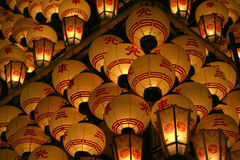 Lanternas de papel japonesas Fotografia de Stock Royalty Free