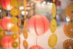 Lanternas de papel ou Luminaria imagens de stock royalty free
