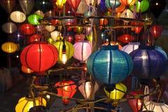 Lanternas de seda Fotos de Stock
